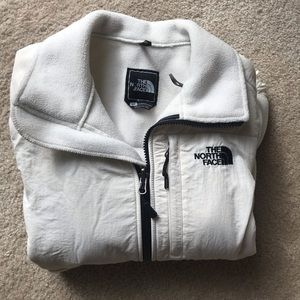 North face fleece small white